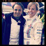 Susie Wolff insieme a Felipe Massa