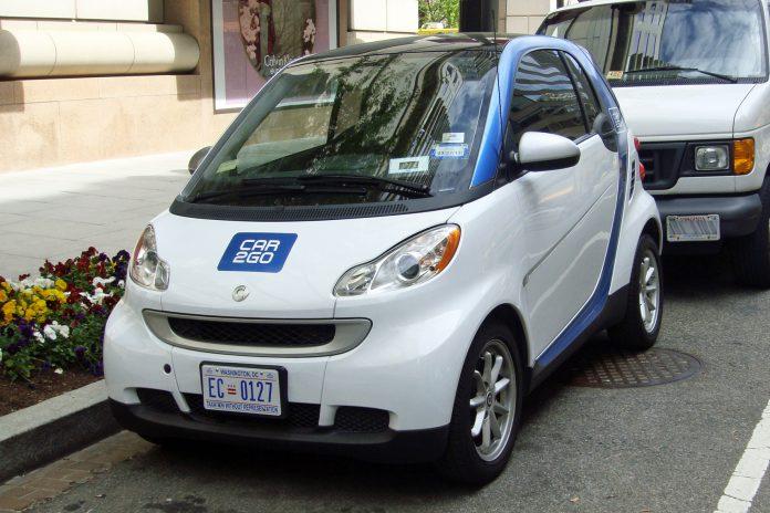 Uno dei veicoli car sharing negli Stati Uniti