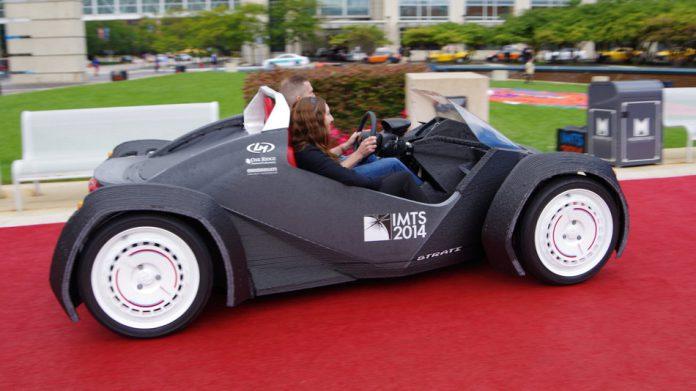 Strati, la prima auto stampata interamente in 3D al mondo