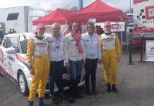 Pilotesse e navigatrici durante un rally a Brescia