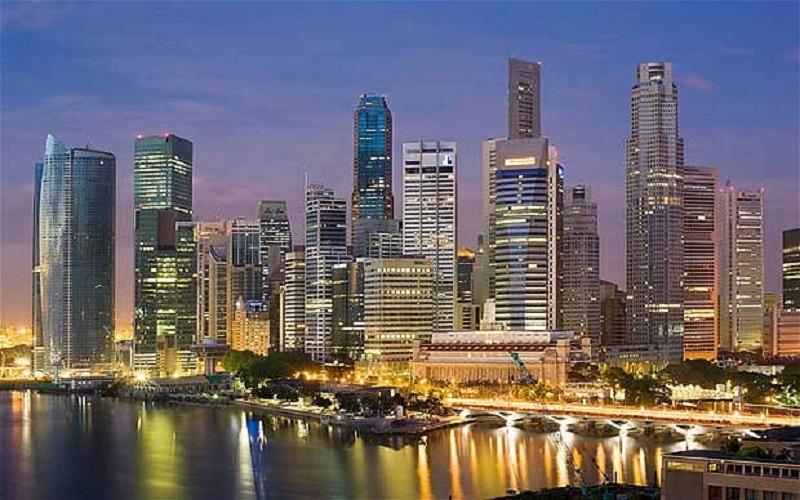 Singapore. panorama notturno
