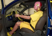 Manichino per crash test