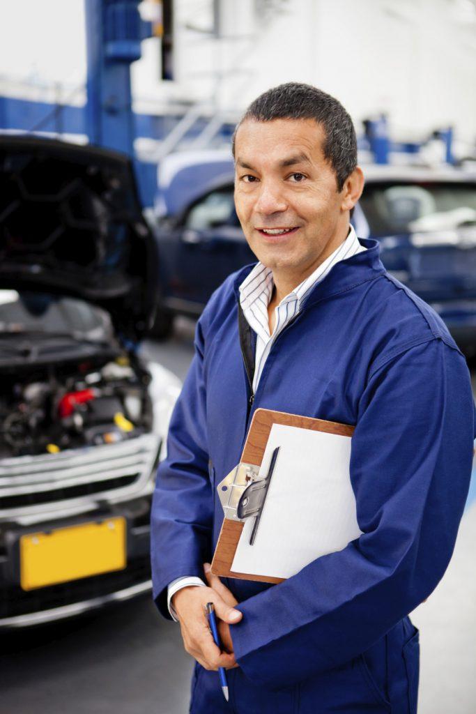 Mechanic at car garage