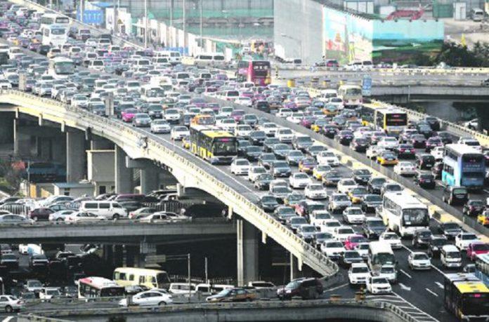 Traffico sulle strade cinesi