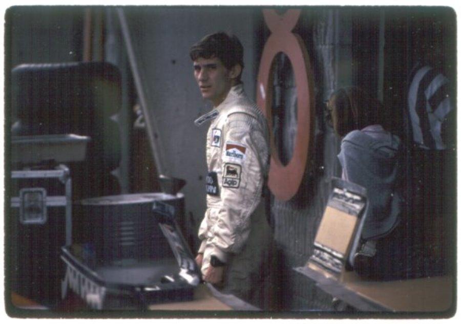 Il giovane AYrton negli anni '80