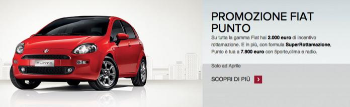 sconti auto Fiat aprile 2015