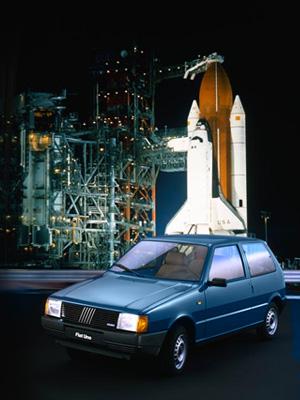 Fiat Uno presentazione a Cape Canaveral