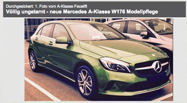 Foto nuova Mercedes Classe A Model Year 2016