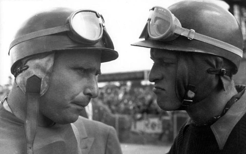 Fangio con Peter Collins, Nubrurgring 1956