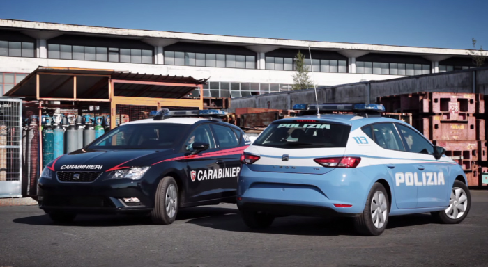 Seat Leon diventa l'auto di polizia e carabinieri, ecco le nuove gazzelle e pantere (VIDEO)
