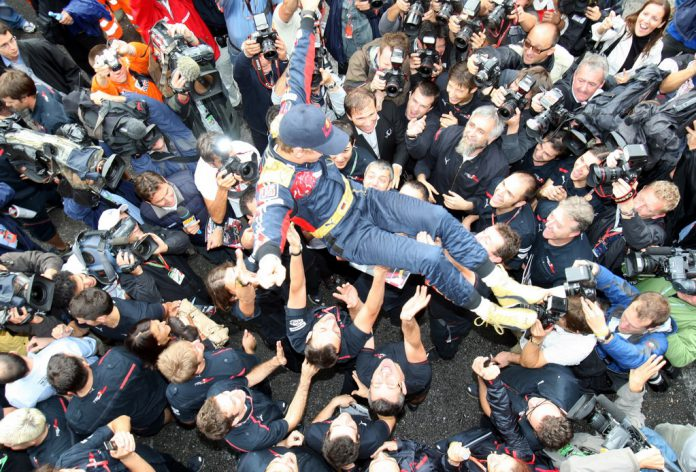 Seb Vettel in tronfo nel 2008