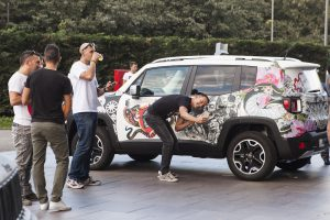 Jeep Renegade tatuata