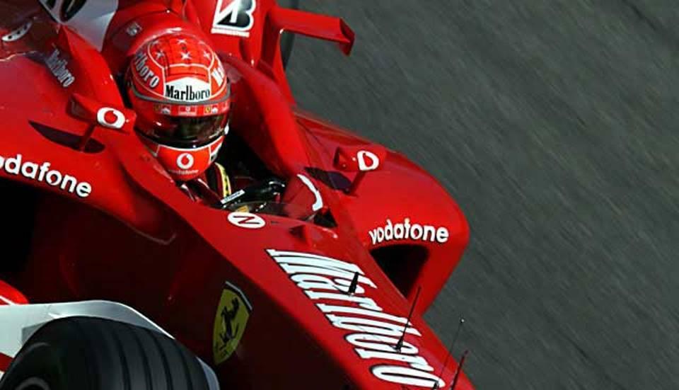 Michael Schumacher a Monza nel 2003