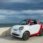 smart fortwo cabrio, bodypanels: white, tridion cell: jupiter red, Line: prime