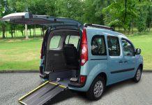 auto per disabili con pedana