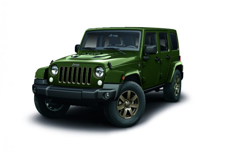 Jeep Wrangler 75th Anniversary: edizione limitata, amore made in Italy
