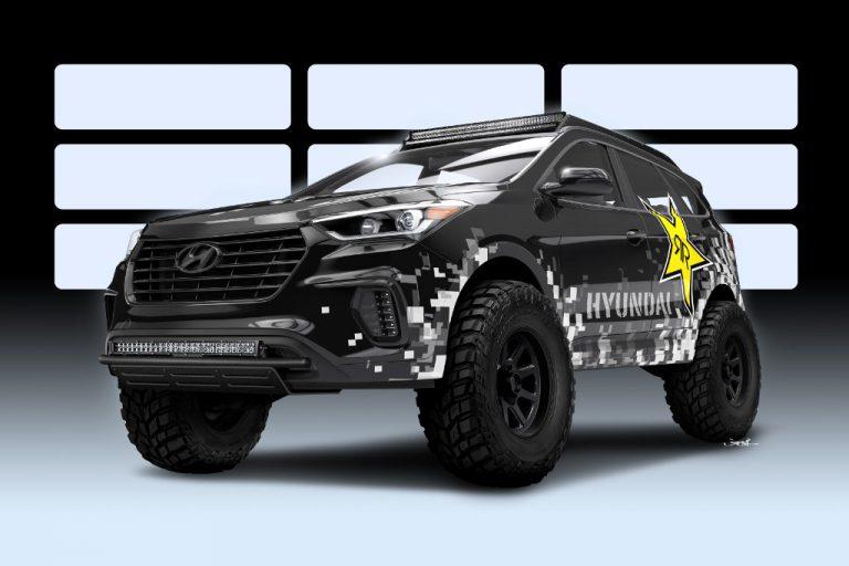 Hyundai Santa Fe: sfida a colpi di tuning Bisimoto-Rockstar
