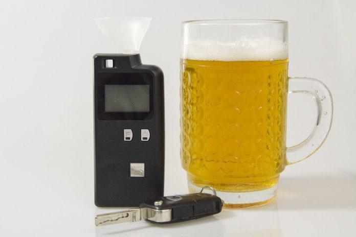 Alcol test positivo